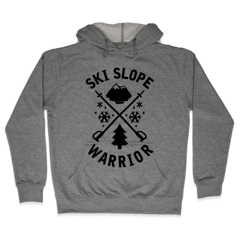 Ski Slope Warrior Hooded Sweatshirt