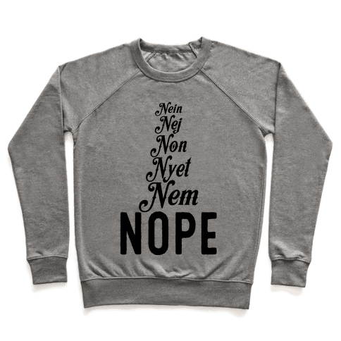 Nope Across the Globe Pullover