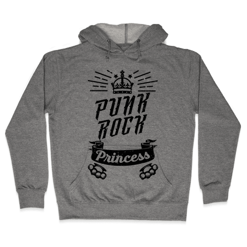 Punk Rock Princess Hooded Sweatshirt