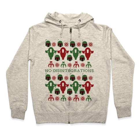 It's a Fett Christmas Zip Hoodie
