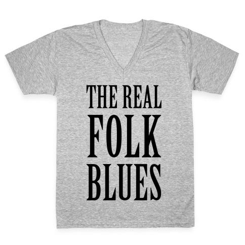 The Real Folk Blues V-Neck Tee Shirt
