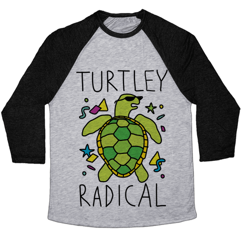 Turtley Radical Baseball Tee