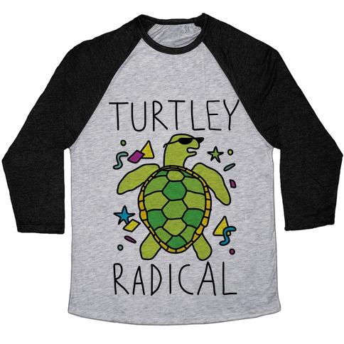 Turtley Radical Baseball Tee