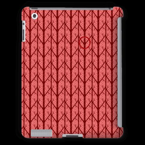 Red Tree Pattern