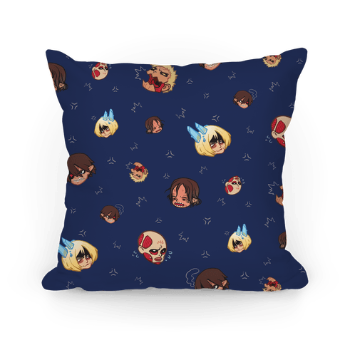 Attack on Titan Heads Pillow