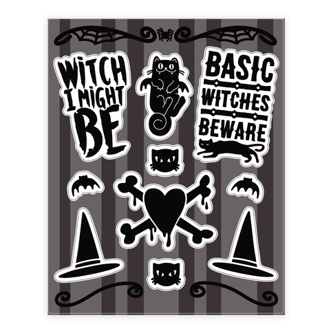 Witchy Halloween  Sticker/Decal Sheet