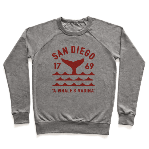 San Diego A Whale's Vagina Pullover