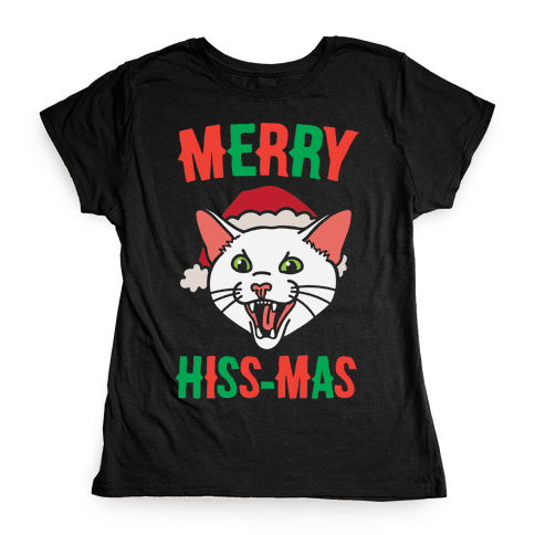 Merry Hiss-mas Womens T-Shirt