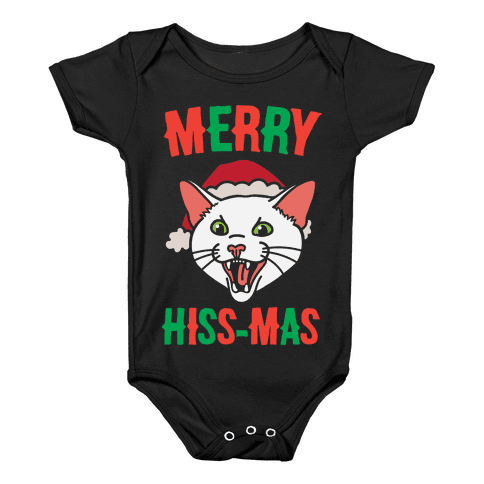 Merry Hiss-mas Baby Onesy