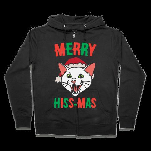 Merry Hiss-mas Zip Hoodie