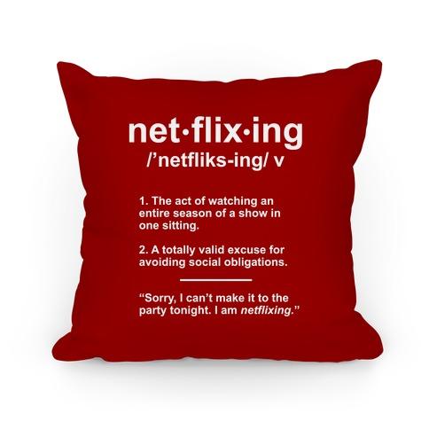 Netflixing Pillow