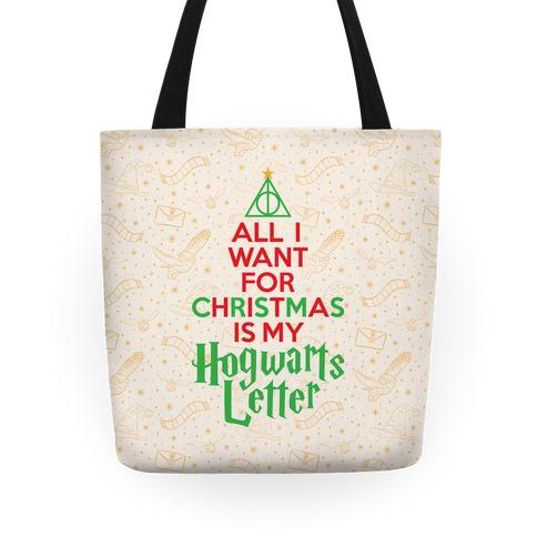 Christmas Hogwarts Letter Tote