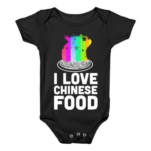 I Love Chinese Food Baby Onesy