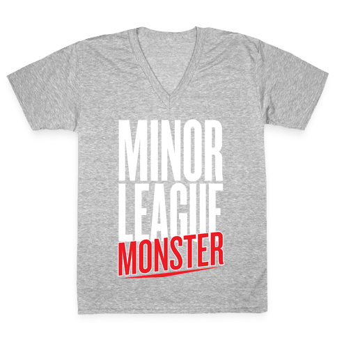 Minor League Monster V-Neck Tee Shirt