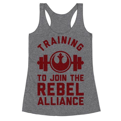 Training To Join The Rebel Alliance Racerback Tank Top