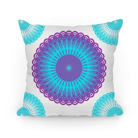 Purple and White Flower Mandala
