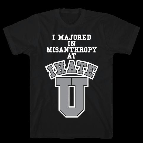 Misanthropy Major Mens T-Shirt