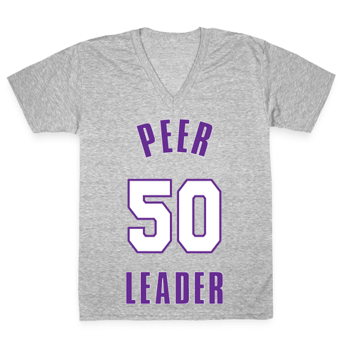 Peer Leader (50) V-Neck Tee Shirt