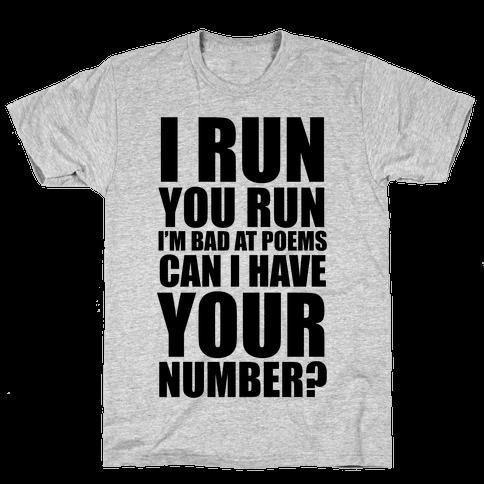 Runner Pickup Line Poem Mens T-Shirt
