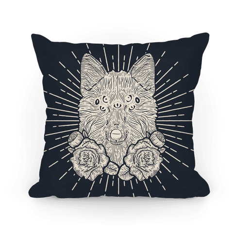 Seven Eyed Fox Pillow