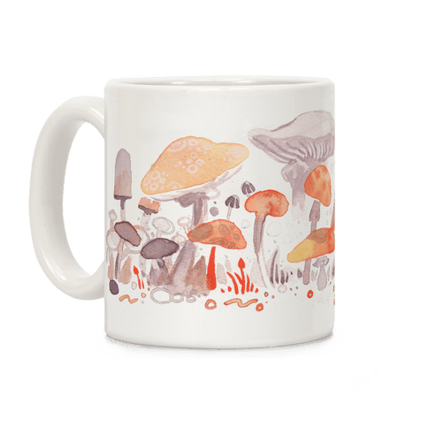Mushroom Garden Pattern Coffee Mug