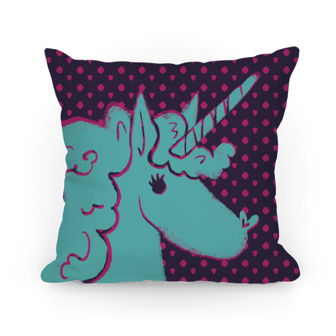 Mythical Blue Unicorn Pillow