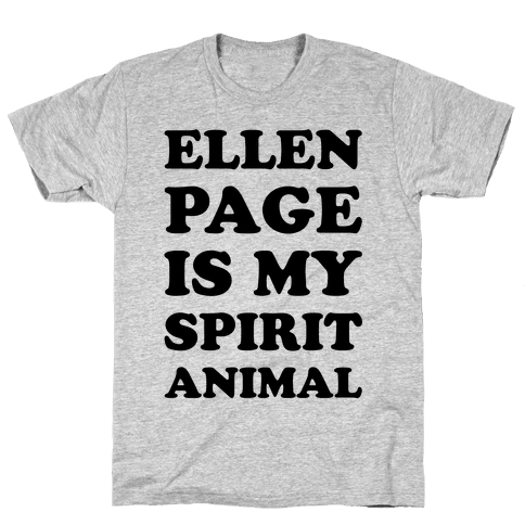 Ellen Page Is My Spirit Animal Mens T-Shirt