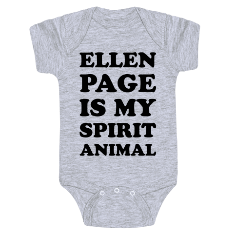 Ellen Page Is My Spirit Animal Baby Onesy