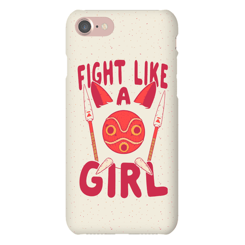 Fight Like A Girl San Parody Phone Case