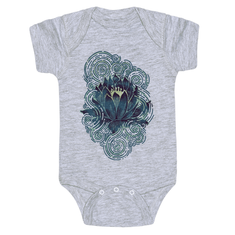 Lotus Flower Baby Onesy