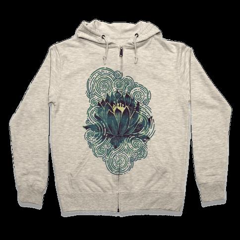 Lotus Flower Zip Hoodie