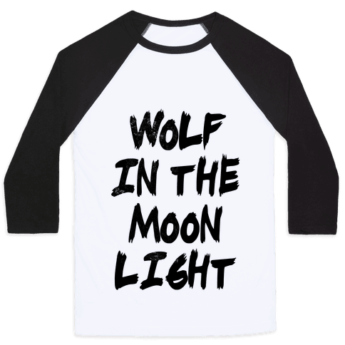 Wolf in the Moonlight Baseball Tee