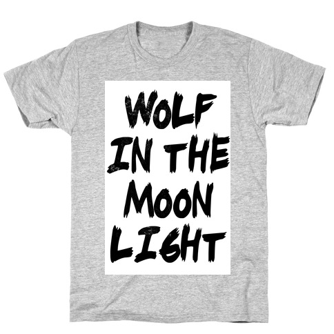 Wolf in the Moonlight Mens T-Shirt
