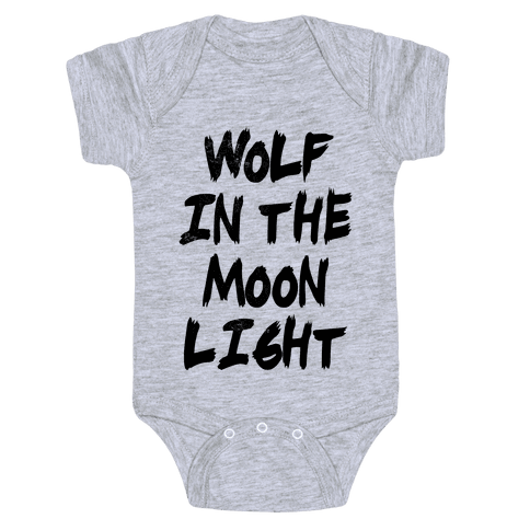 Wolf in the Moonlight Baby Onesy