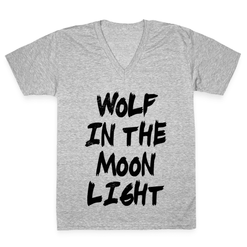 Wolf in the Moonlight V-Neck Tee Shirt