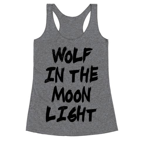 Wolf in the Moonlight Racerback Tank Top