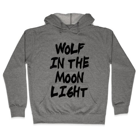 Wolf in the Moonlight Hooded Sweatshirt