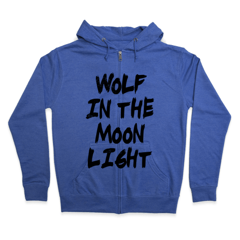 Wolf in the Moonlight Zip Hoodie