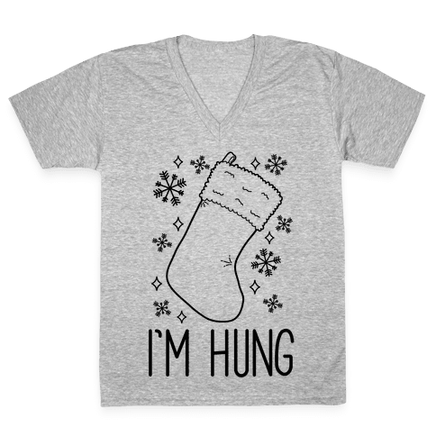 I'm Hung (Stocking) V-Neck Tee Shirt