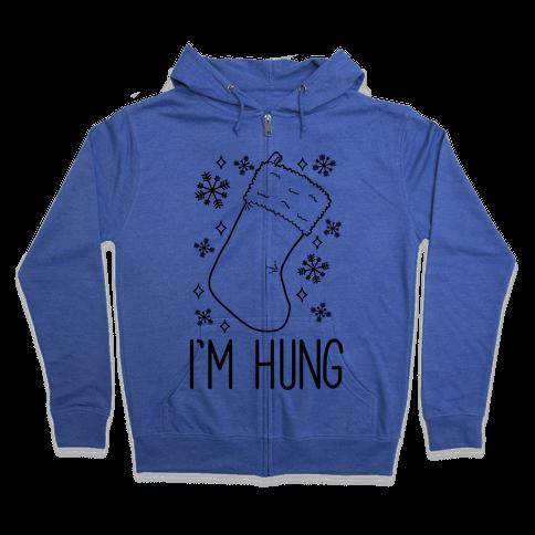 I'm Hung (Stocking) Zip Hoodie