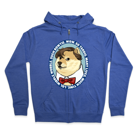 The Doctor Doge Zip Hoodie