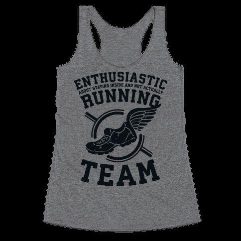 Enthusiastic Running Team Racerback Tank Top