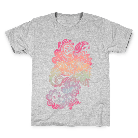 Rainbow Lotus Henna Inspiration Kids T-Shirt