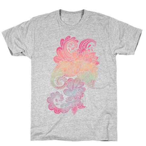Rainbow Lotus Henna Inspiration T-Shirt