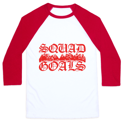 Squad Goals Apostles Baseball Tee