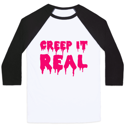 Creep It Real (Pink) Baseball Tee