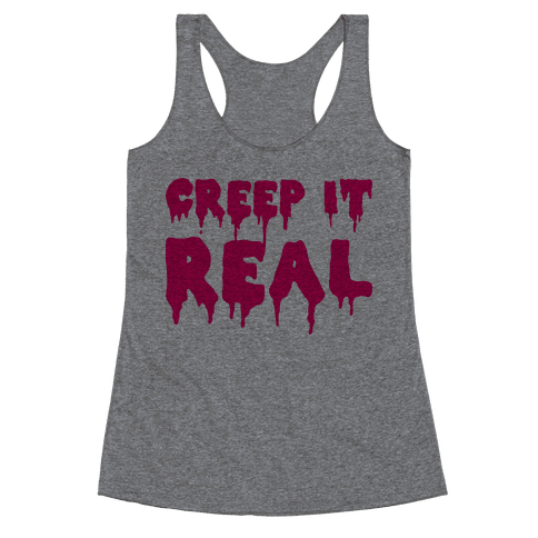 Creep It Real (Pink) Racerback Tank Top