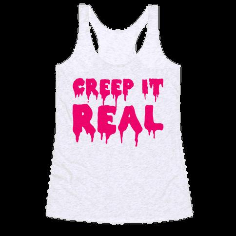 Creep It Real (Pink) Racerback Tank Top