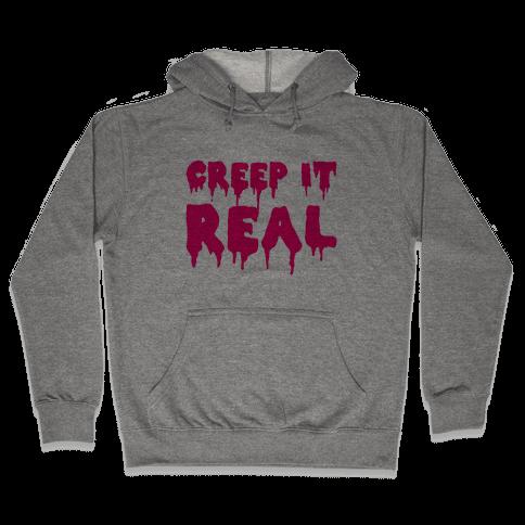 Creep It Real (Pink) Hooded Sweatshirt