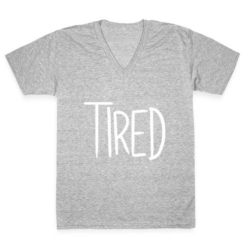 Tired V-Neck Tee Shirt